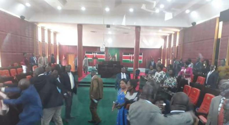 Homabay MCAs engaged in fights at the assembly chambers