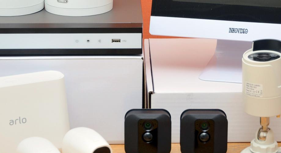 Vier Überwachungskamera-Sets im Vergleich
