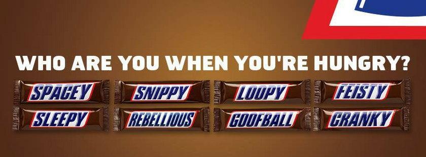 Nowe opakowania Snickersów
