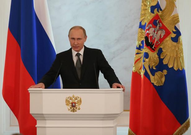 Władimir Putin wygłasza orędzie