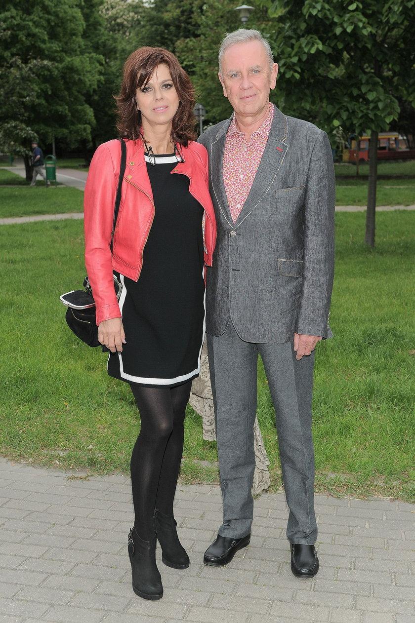 Krzysztof Jaroszyński z żoną