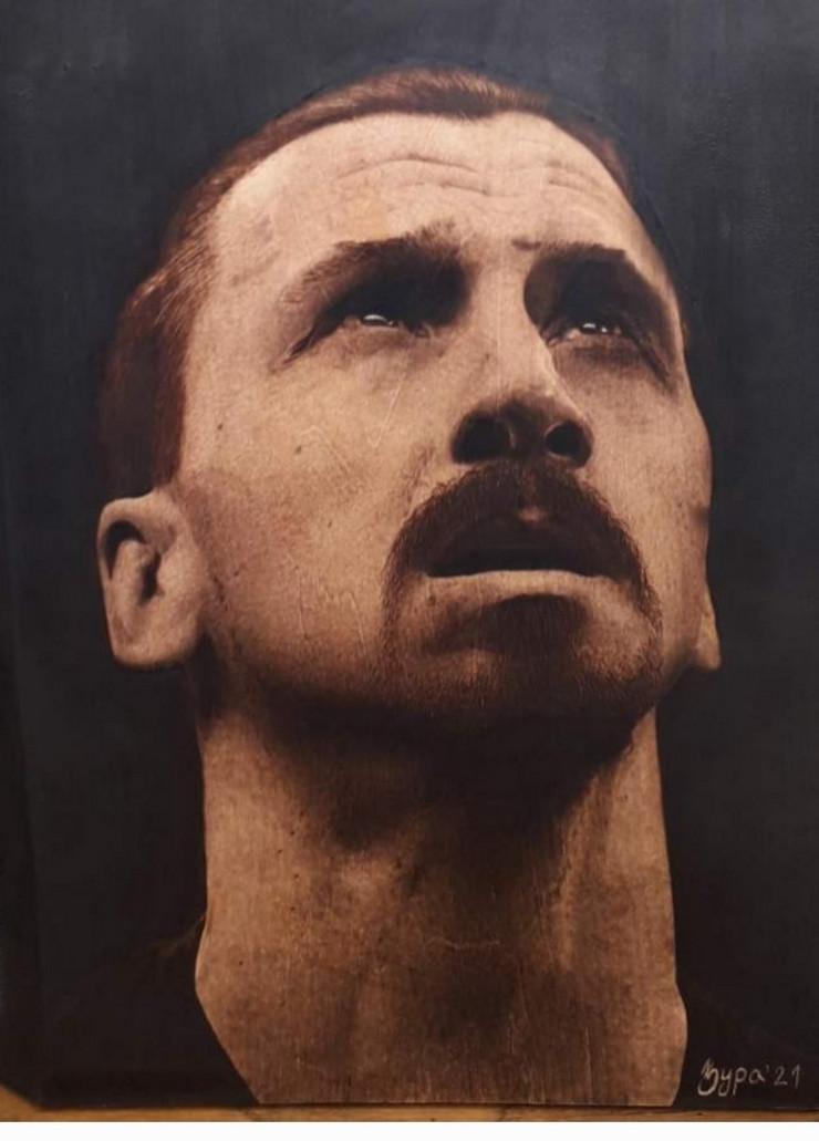 Ivan je prvo naslikao jedan portret Zlatana Ibrahimovića