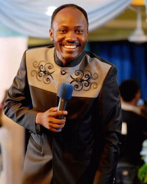 Apostle Johnson Suleman had during a service in his church called out men and women who have become notorious for bleaching their skin [Instagram/ApostleJohnsonSuleman]