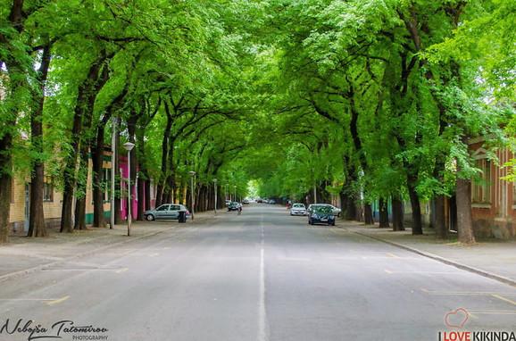 Ulica generala Drapšina u Kikindi