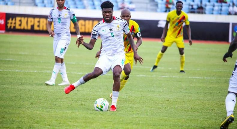 Video: See Thomas Partey's free-kick that secured victory for Ghana against Zimbabwe