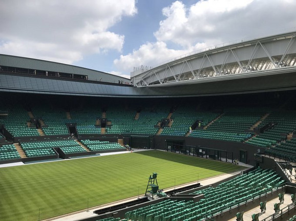 A new roof over the ground number 1 at Wimbledon