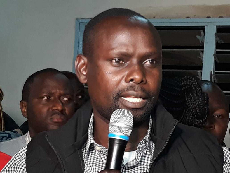 Bernard Okoth who emerged victorious in the ODM party nominations and will face off with Jubilee's MacDonald Mariga