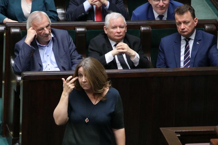 Skandaliczne zachowanie Lichockiej w Sejmie!