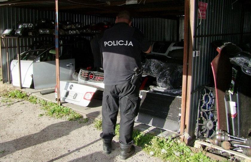 38-latek z Poznania prowadził dziuple samochodowe