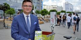 Prezydent Krupa testuje nowe rowery. Tym razem jako pasażer