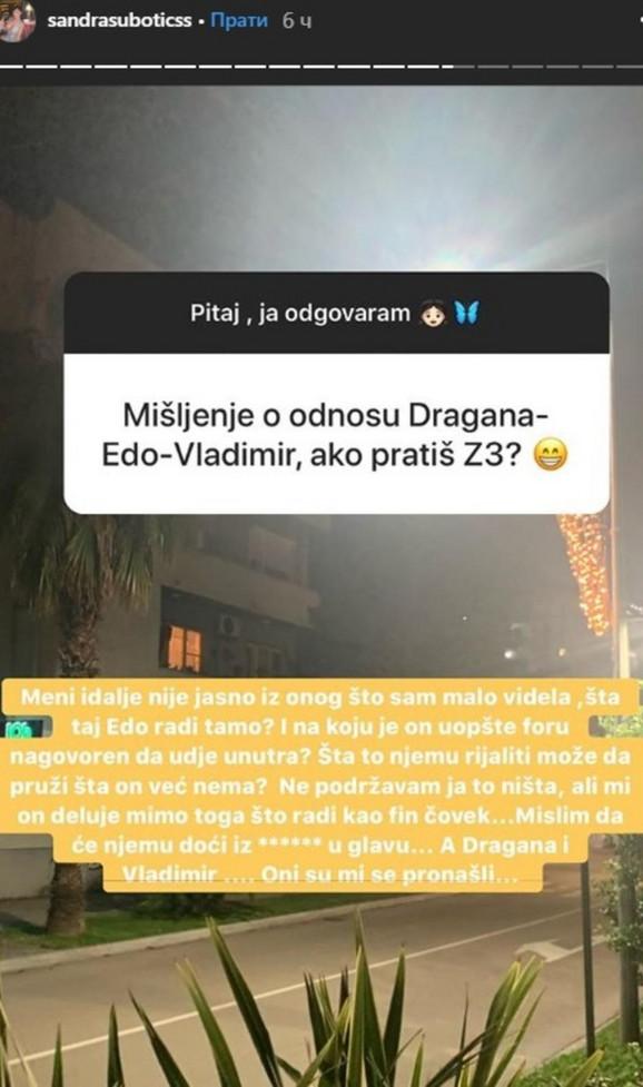 Objava Aleksandre Subotić
