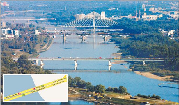 Droga Magistralna M1 – tak według Google'a nazywa się Trasa Łazienkowska Fot. Maciej Piasta/Forum