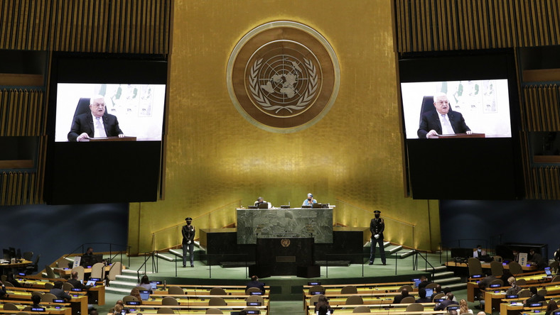Mahmud Abbas podczas Zgromadzenia Ogólnego ONZ