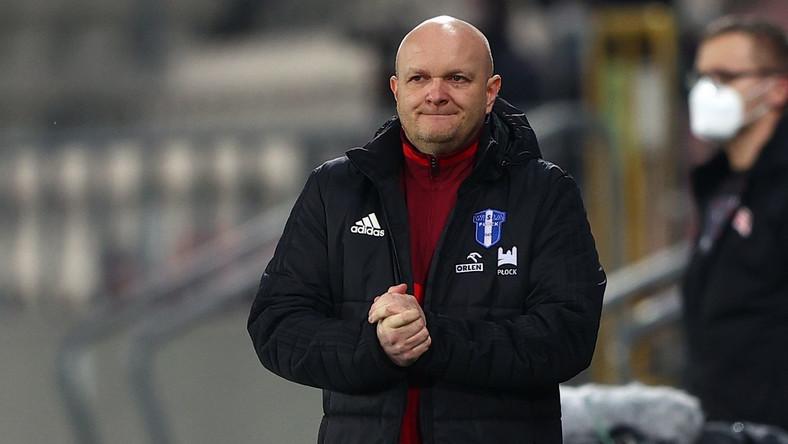 Trener zawodników Wisły Płock Maciej Bartoszek