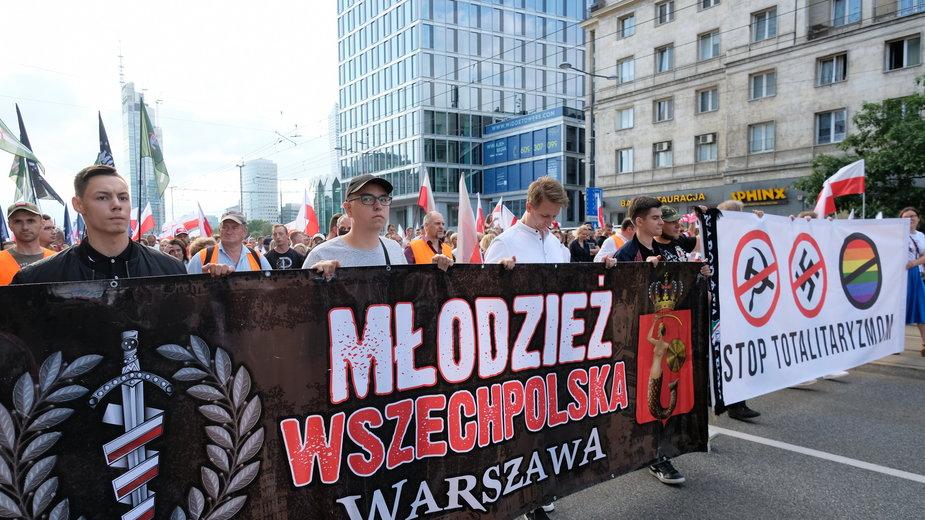 Marsz narodowców w Warszawie