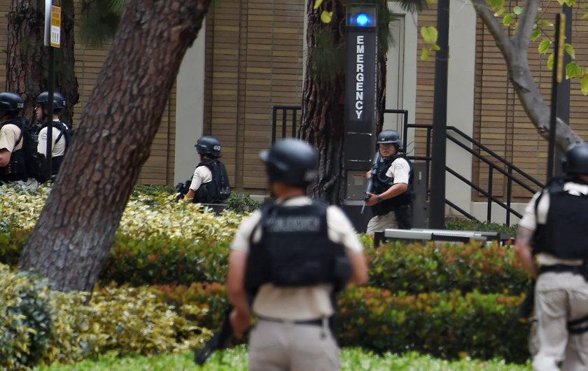 Policja otoczyła budynek