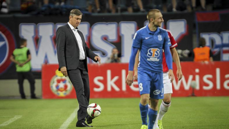 Maciej Skorża podczas meczu Wisła Kraków - Lech Poznań