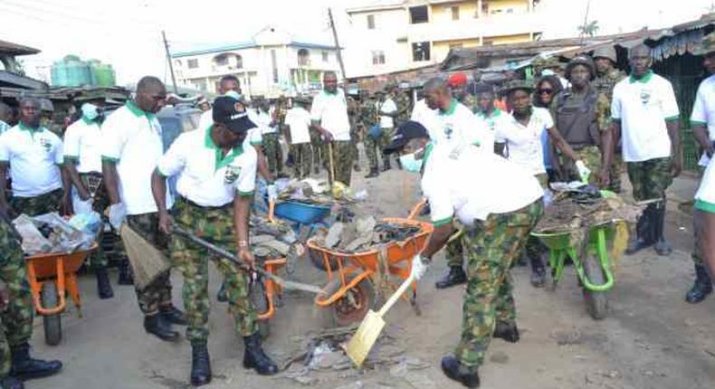 Crocodile Smile IV: Army conducts environmental sanitation in Lagos community/Illustration (Blackbox Nigeria)