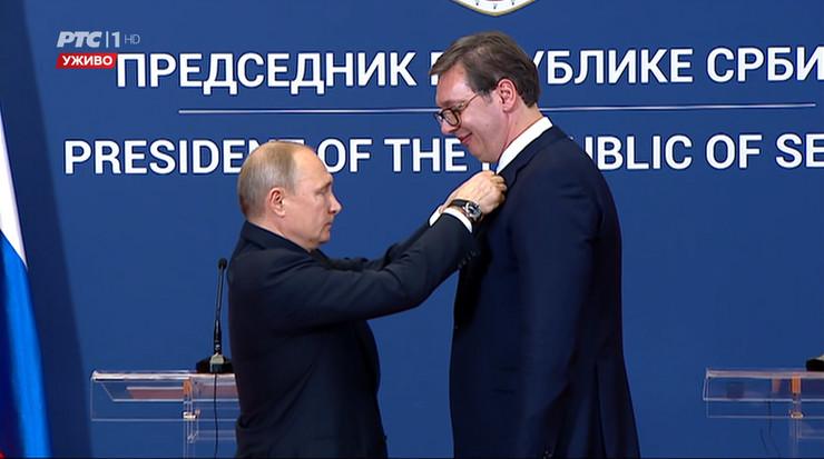 Odlikovanje, Orden, Putin, Vucic