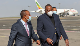 Ethiopian Prime Minister Abiy Ahmed and Kenya's President Uhuru Kenyatta