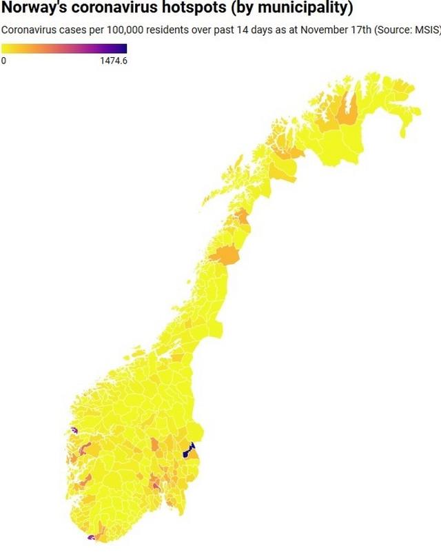 Žarišta u Norveškoj