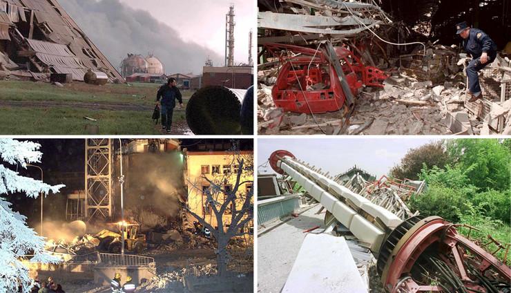 bombardovanje objekti KOMBO EPA Vladimir Vasin, Milos Bicanski, Srdjan Suki, Tanjug