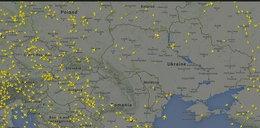 Samoloty omijają wschodnią Ukrainę
