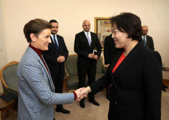 Ana Brnabić i Čen Bo