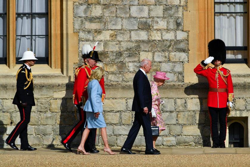 Znana stylistka o ubiorze Jill Biden podczas spotkania z królową