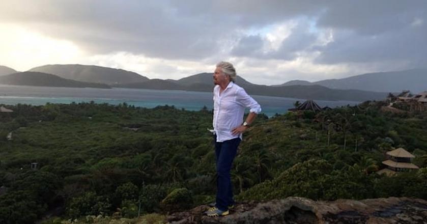 Richard Branson przeżył huragan Irma na prywatnej wyspie