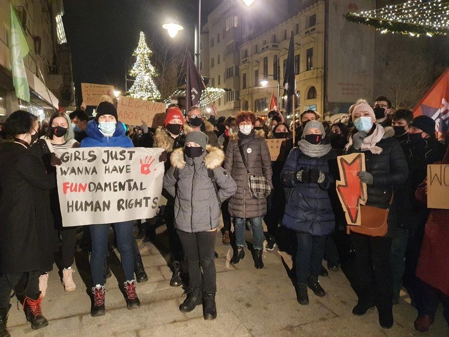 Protest ws. aborcji w Łodzi