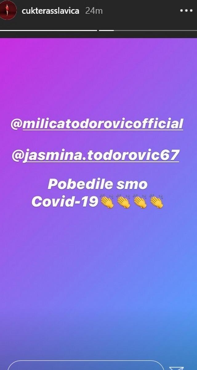 Slavica Ćukteraš i Milica Todorović negativne na korona virus