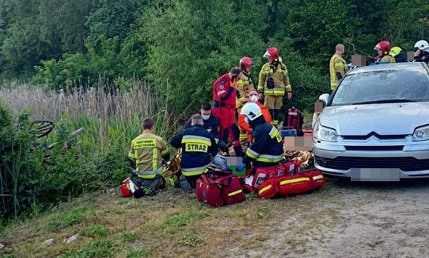 Poważny wypadek w Błotkowie.