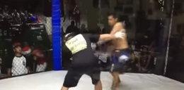 Szokująca scena na gali MMA. Zawodnik zaatakował sędziego