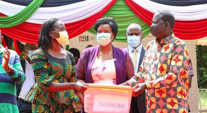 Former Prime Minister Raila Odinga during a ceremony in Nairobi where he received signatures collected in support of BBI referendum bill