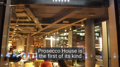 We went to London's first Prosecco-only bar where they serve over 20 types from 5 Italian vineyards