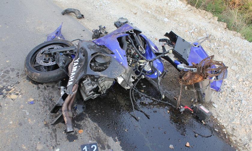 Tragiczny wypadek, motor rozerwało na strzępy