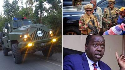 Details of rarely-seen weapons Matiang'i has unleashed on Laikipia bandits[Photos]