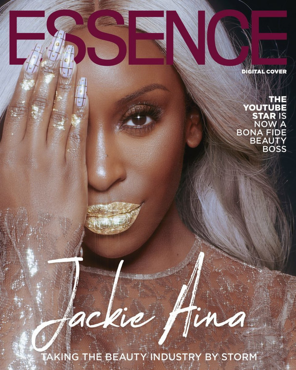 Beauty influencer Jackie Aina dazzles on Essence magazine's June 2019 digital cover [Credit: Essence Magazine]