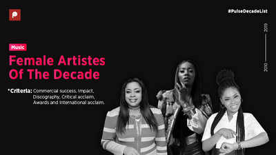 Here are the top 10 Nigerian female artistes of the decade (The 2010s)