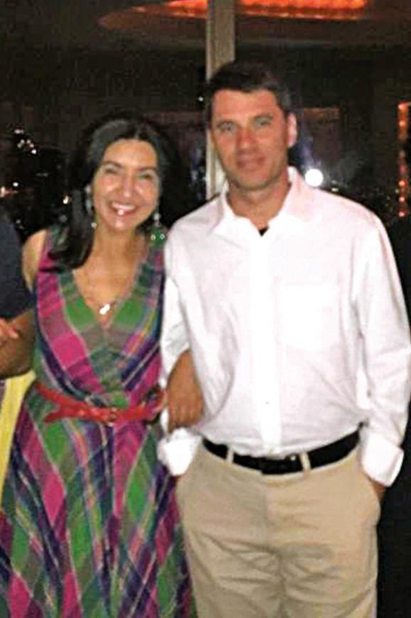 Džejson Rif sa suprugom Lolom Gulomovom