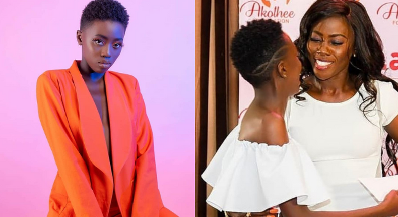 Akothee and daughter Rue Baby