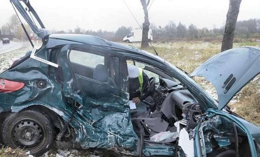 4 rannych, z auta miazga