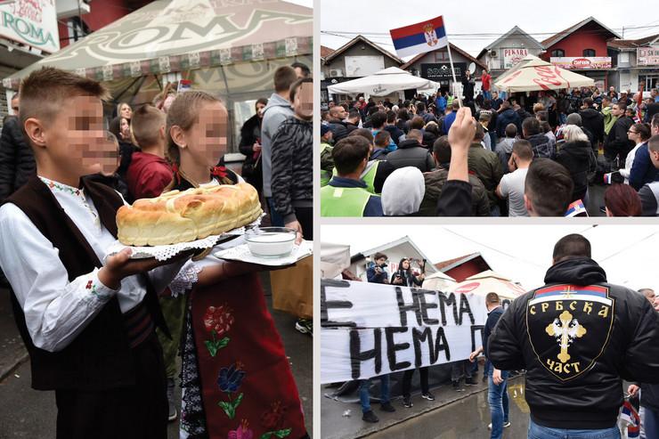 Borca kombo, protest, desničari