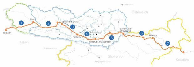 Drauweg - szlak rowerowy wzdłuż rzeki Drawy