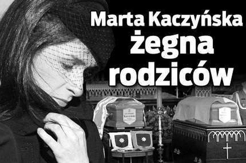 Marta Kaczyńska. Żegna rodziców