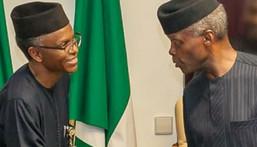 Kaduna Gov Elrufai (L) says VP Osinbajo (R) is Chairman of the National Association of Short People in Nigeria (Presidency)