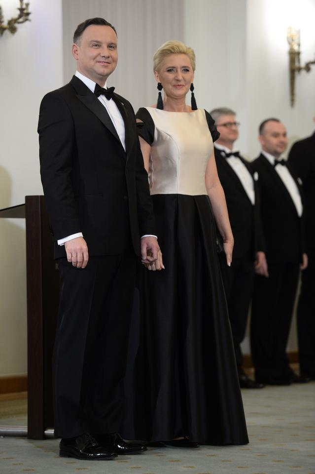 Para prezydencka podczas spotkania z korpusem dyplomatycznym