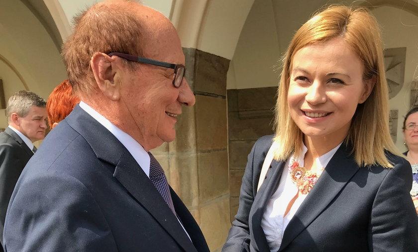 Prezydent Rzeszowa Tadeusz Ferenc i wiceburmistrz Split Jelena Hrgović