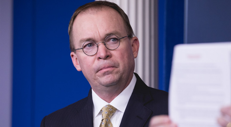 Trump's chief of staff Mick Mulvaney just admitted Republicans are total hypocrites on cutting the federal deficit